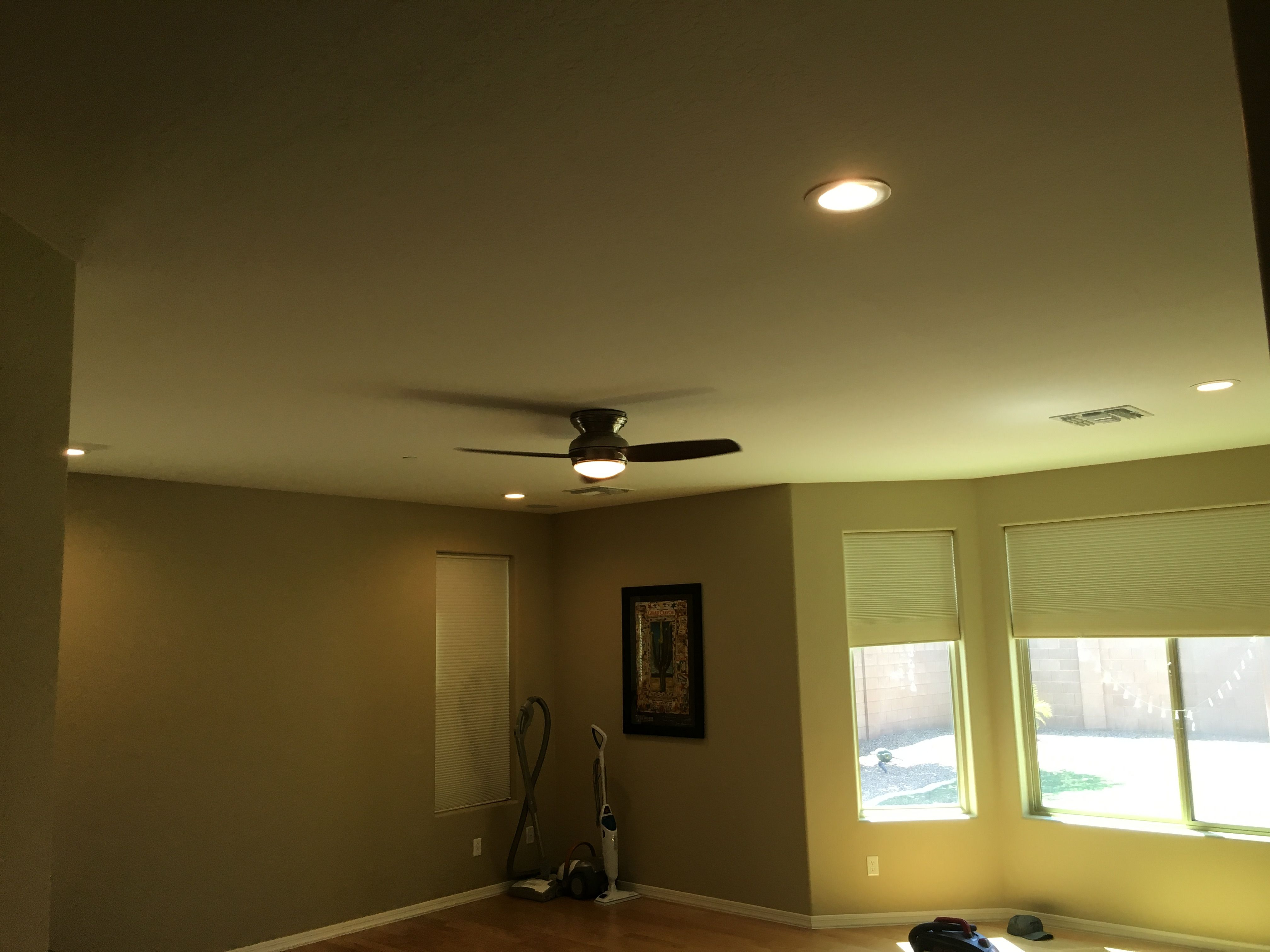 4 x 6- inch recessed lighting installation with a Dimmer switch ...