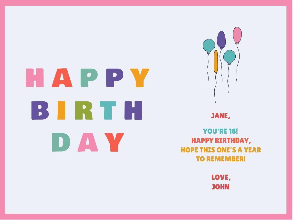 Customize Our Birthday Card Templates Hundreds To Choose From Birthday Card Online Online Birthday Card Maker Birthday Card With Name