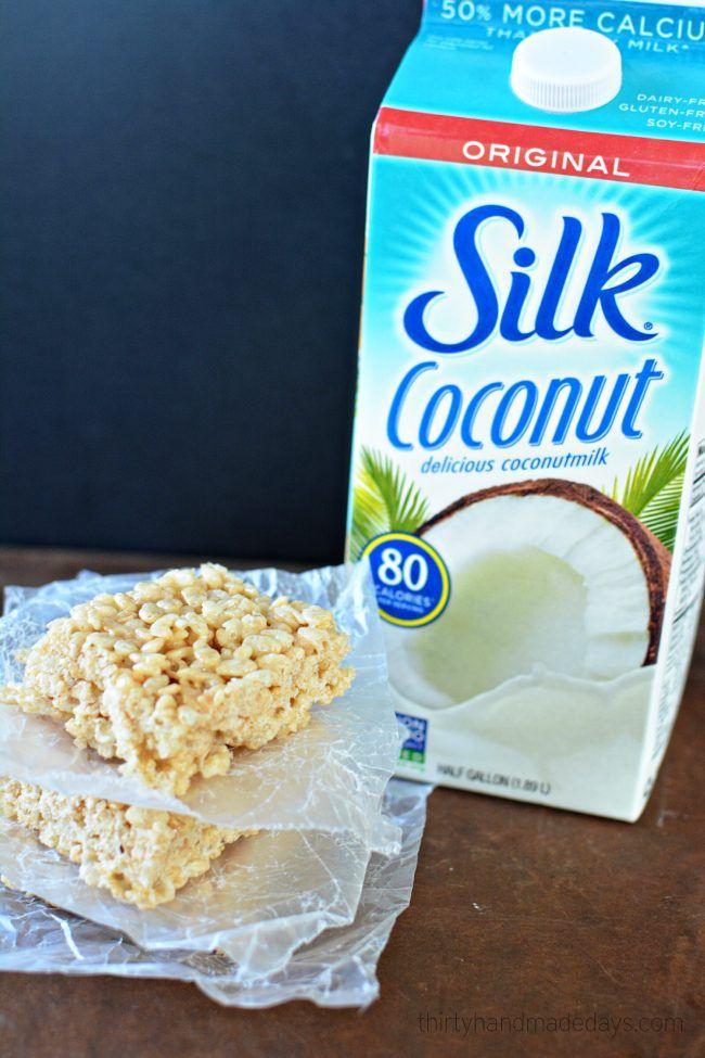Coconut Oil Rice Crispy Treats #crispytreats