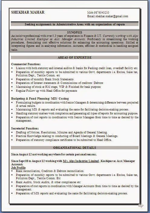 example of resume for job Sample Template Example ofExcellent - difference between resume and cv