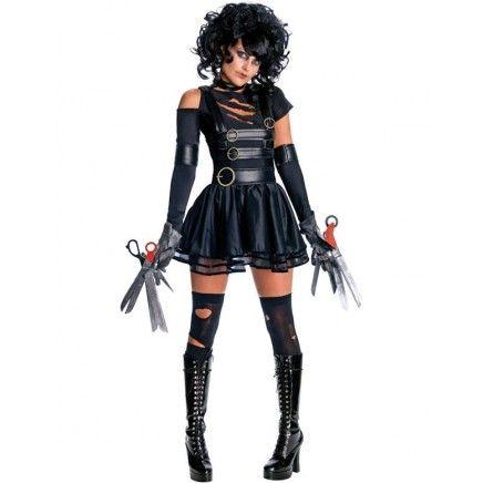 Original Licence Edward avec les Ciseaux Mains Halloween Femmes Costume