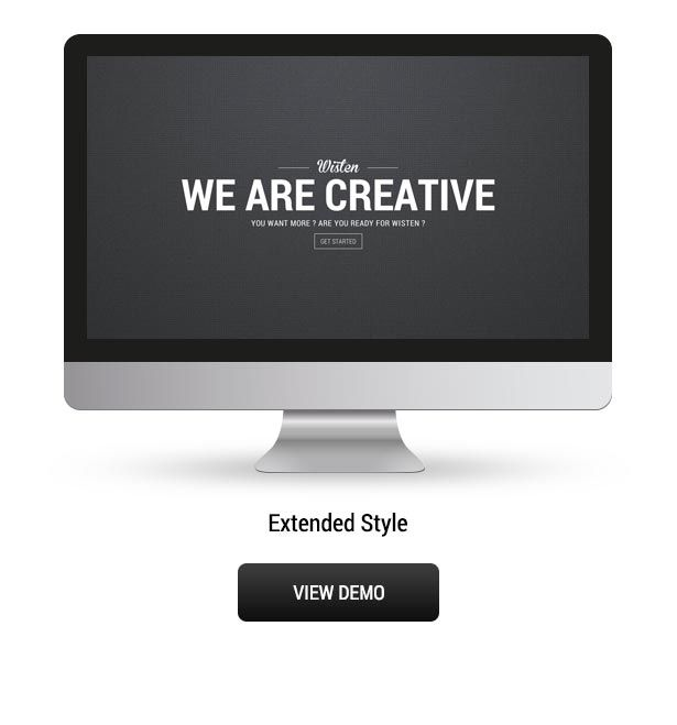 wisten one page parallax theme template
