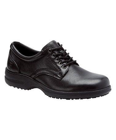 Black Professional Admiral Leather Oxford - Men #zulily #zulilyfinds
