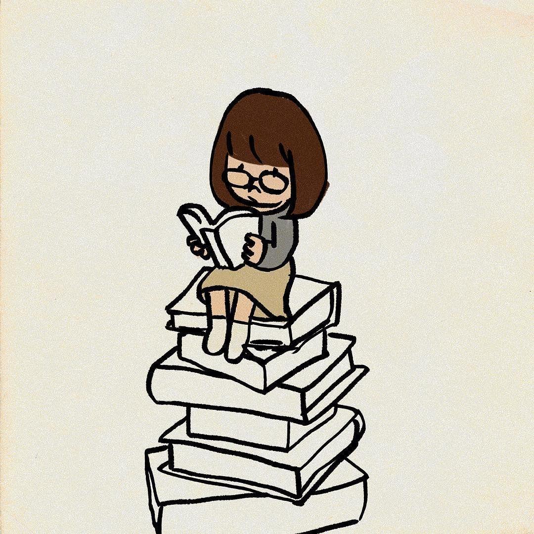 読書の秋 #イラスト | my illustration | pinterest | 読書の秋、読書