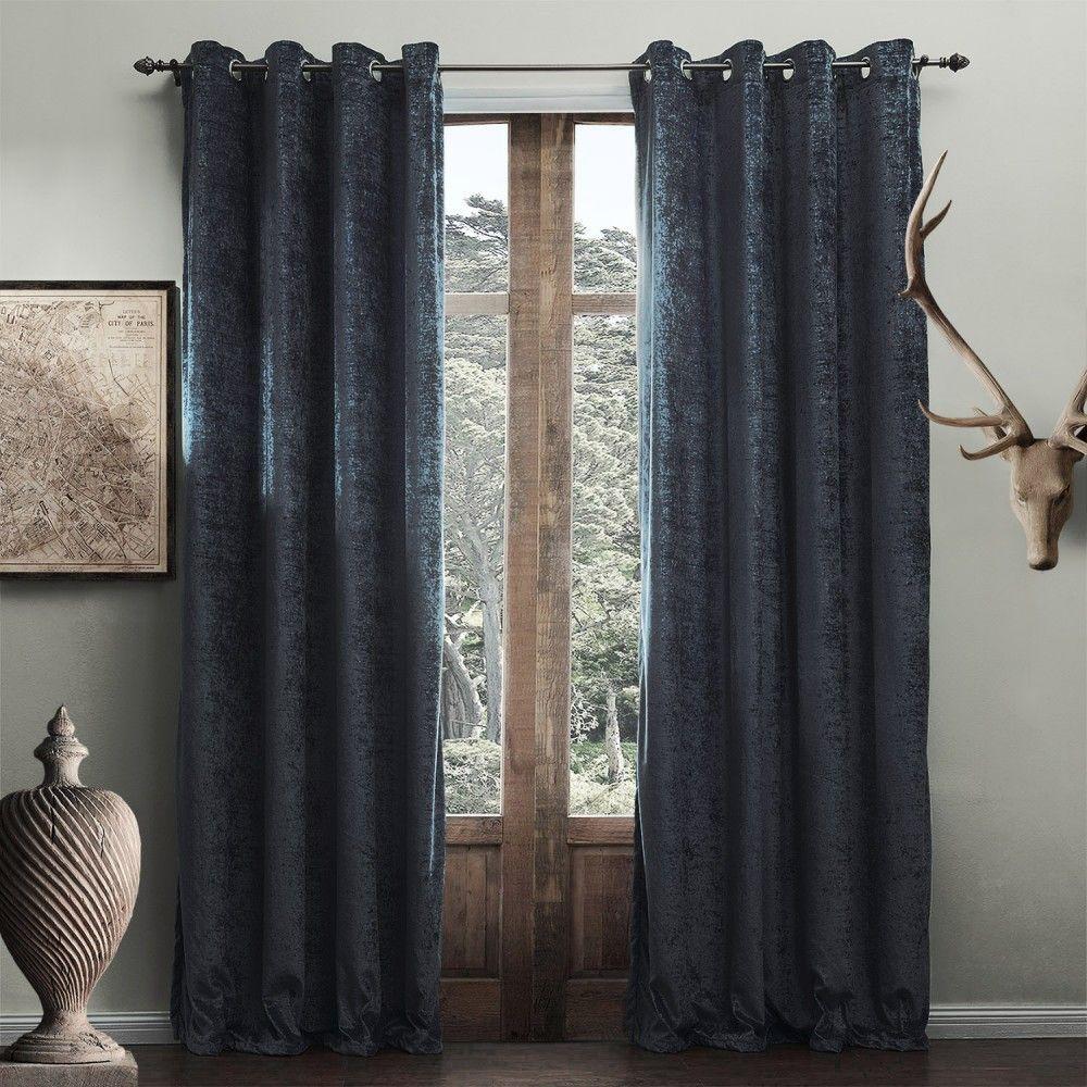 Modern Solid Blue Grey Curtain Curtains Decor Homedecor Homeinterior Blue Living Room Drapes Curtains Blue Curtains