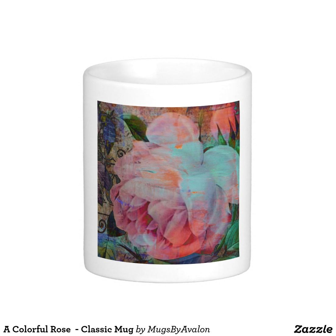 A Colorful Rose  - Classic Mug