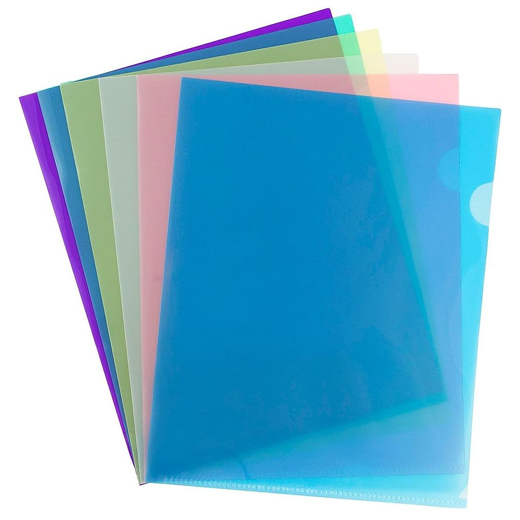 Jam Paper Plastic Sleeves 9 X 11 5 Assorted Colors 12 Pack 380sasst At Staples In 2020 Jam Paper Paper Cover Page Protectors