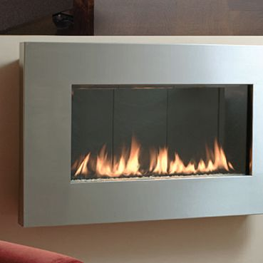 Magically Transform Any Wall Into A Decorative Niche With This Mounted Gas Fireplace That Hangs Effortlessly Like Work Of Fine Art