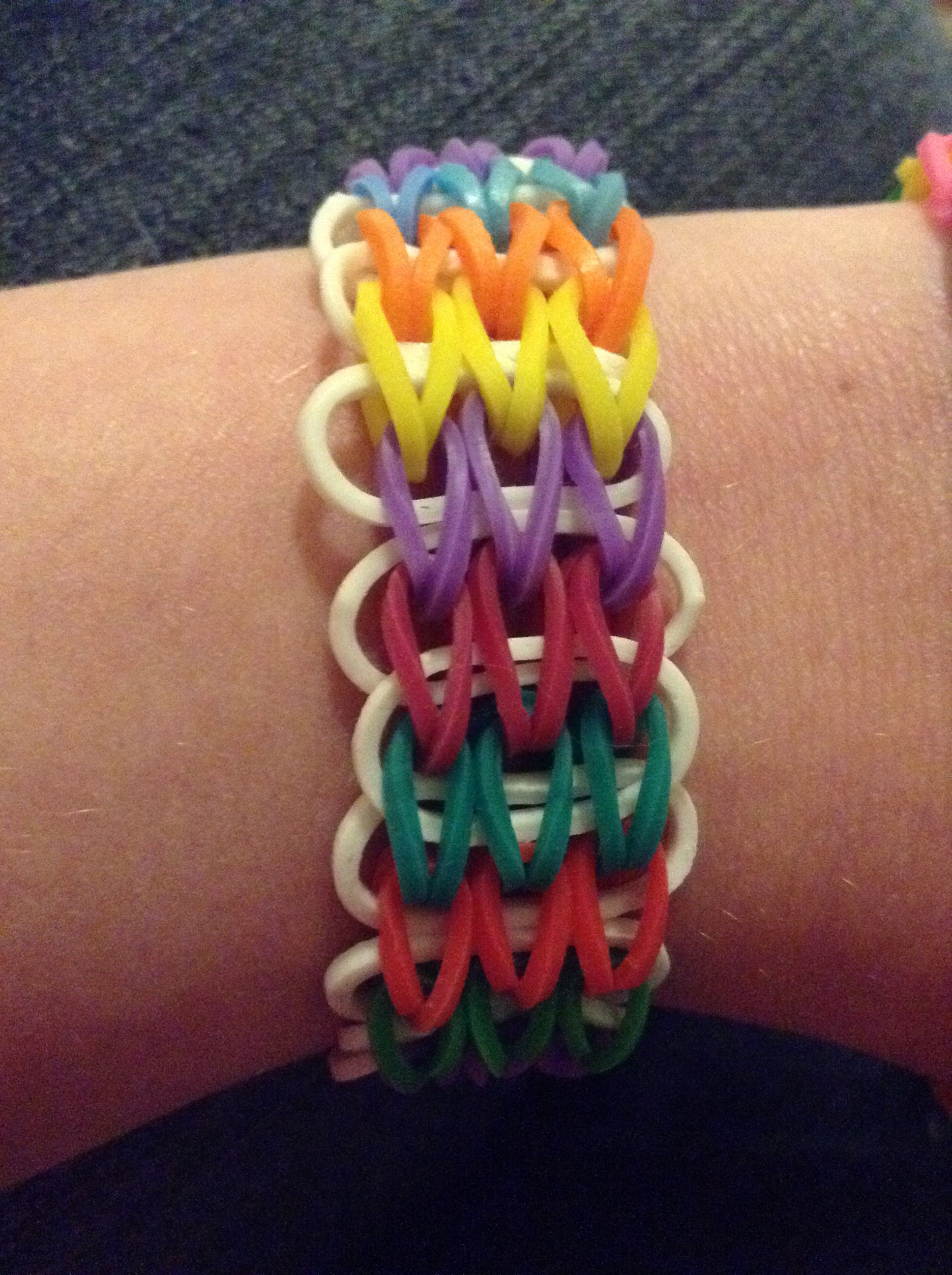Loom Band Foot Thing Made From 1 Waterfall Bracelet And Fishtail Connected With An