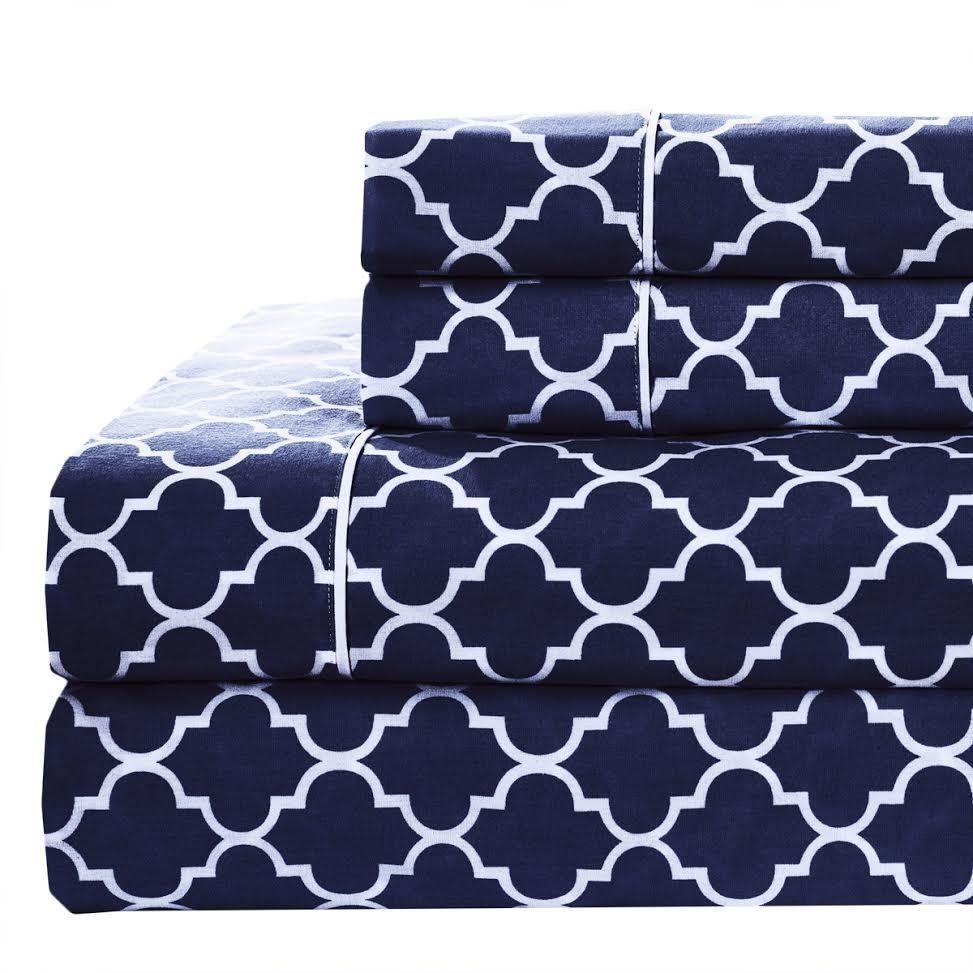 60% OFF Printed Meridian Split King Adjustable Bed Sheet Sets 100% Cotton  Percale
