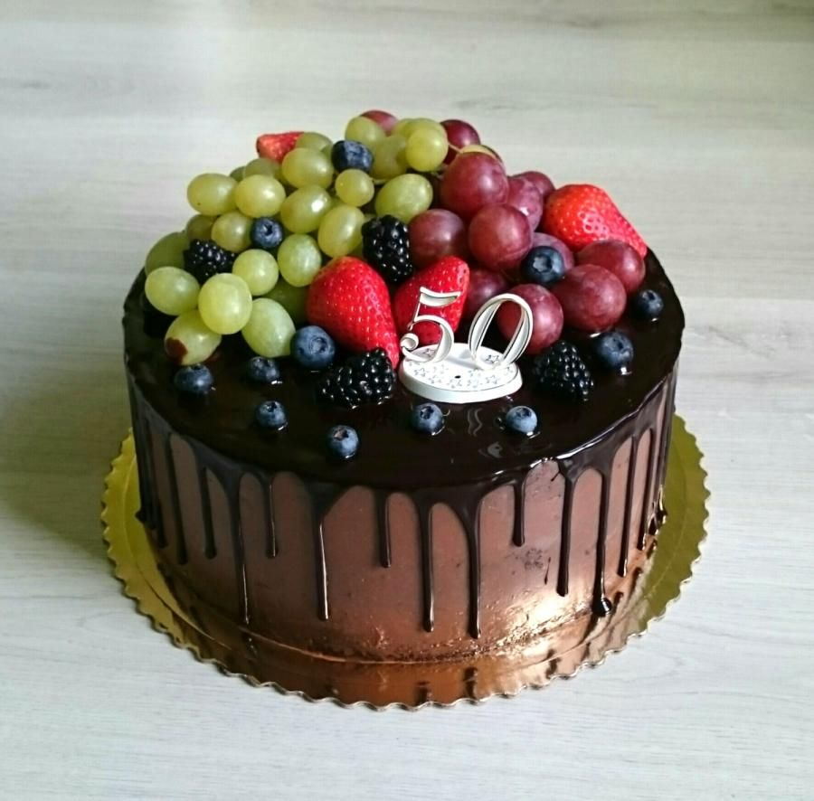Chocolate Cake With Fresh Fruits By Andycake Chocolate Fruit