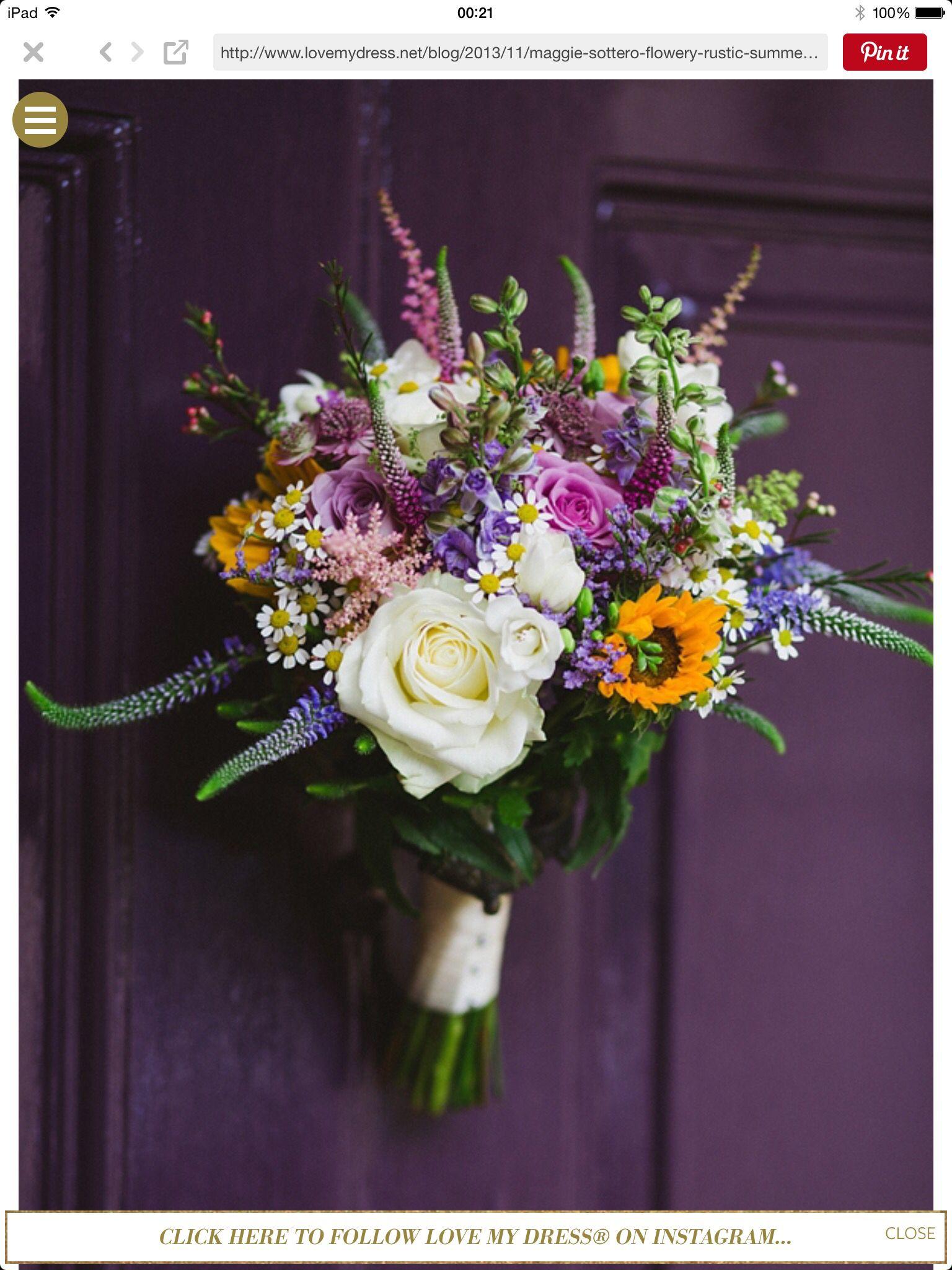 Follow Us Signaturebride On Twitter And On Facebook Signature Bride Magazine Sunflower Wedding Bouquet Wedding Flowers Sunflower Wedding