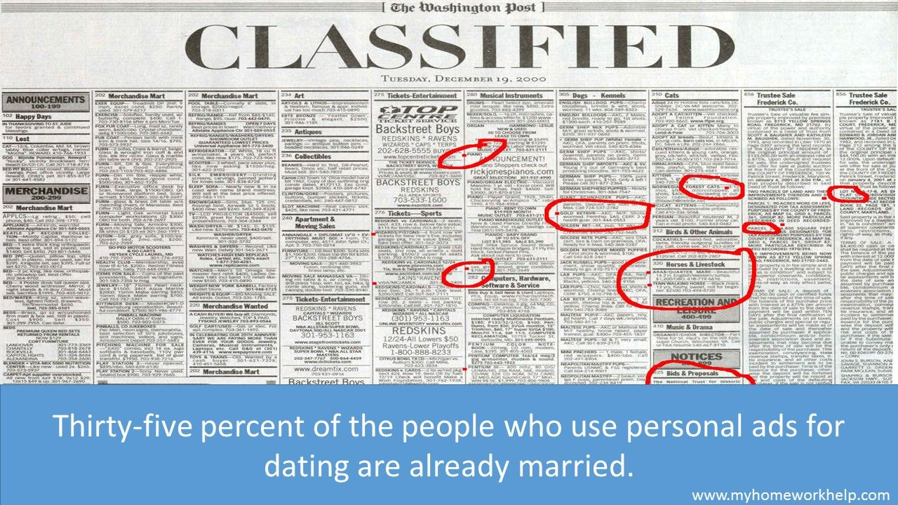 personal ads dating