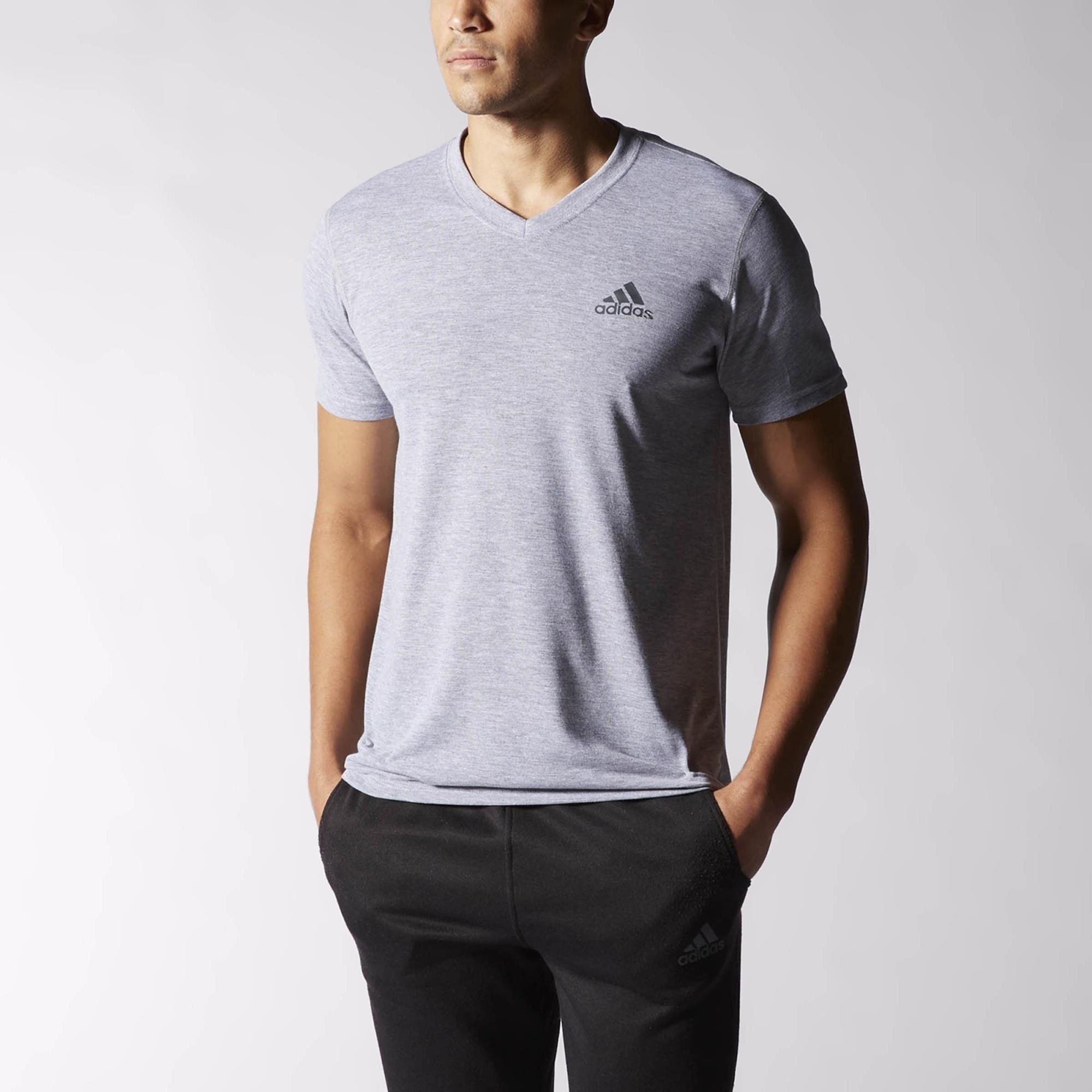 adidas Ultimate V-neck Tee | adidas US | Men short sleeve ...