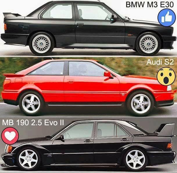 ¿E30, S2 o E190? #BMW #M3 #E30  #Audi #S2 #Mercedes #E190 @bmwespana  @audispain  @mbenzespana