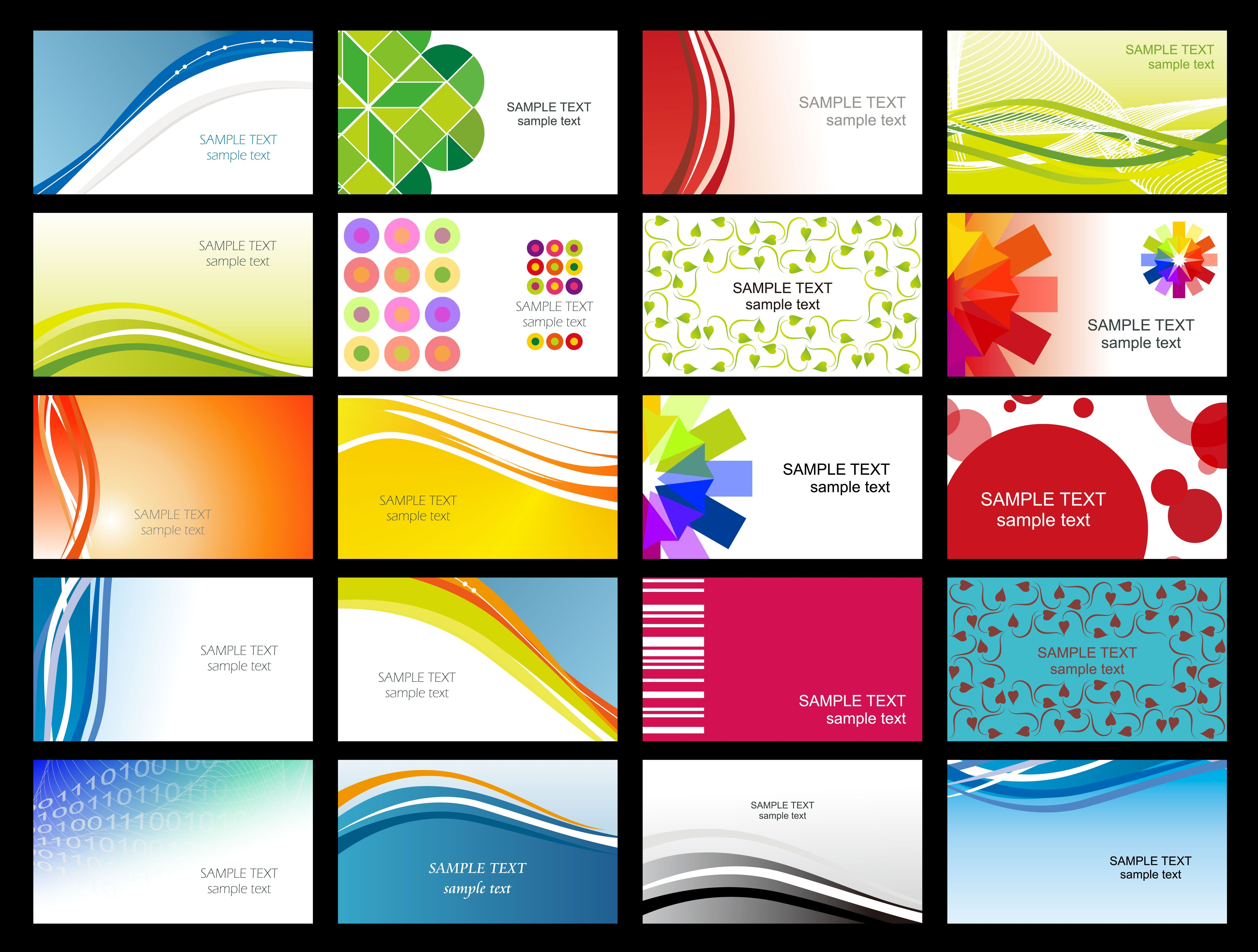 Free Vector Variety Of Dynamic Flow Line Of Business Card For Calling Card Free Te Free Printable Business Cards Visiting Card Templates Download Business Card