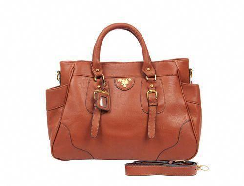 Prada Vintage Calf Leather Tote Handbag Brown  Pradahandbags   Designerhandbags 07bf49a7725b0