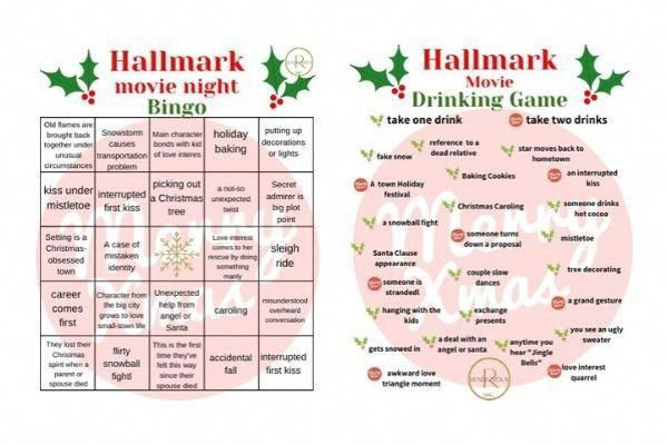 hallmark bingo & hallmark drinking download #christmasmovies
