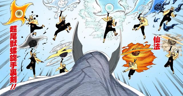 9 JenisJenis Rasenshuriken Mode Sage Anime crossover