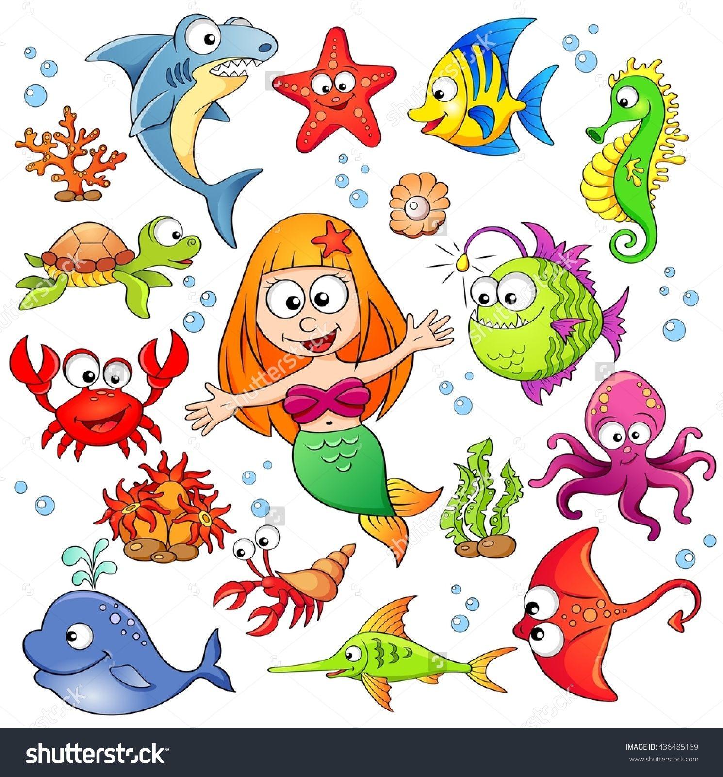 Pin De Ana Anchila En Ilustraciones En 2020 Dibujos Animales Marinos Fondo De Mar