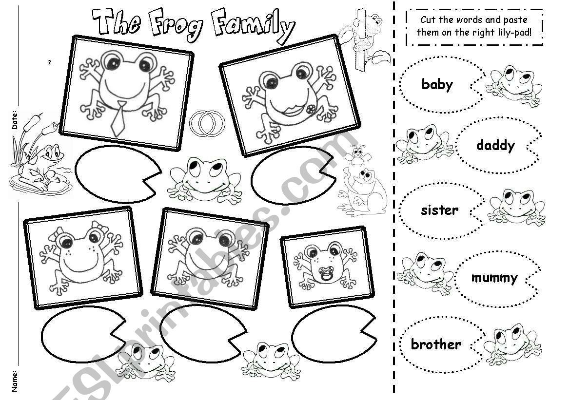 The Black Amp White Version Of My Worksheet About The Frog