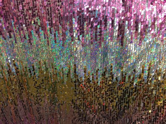 Amazing sequins mesh fabric multicolor fabric by KINGDOMOFFABRICS