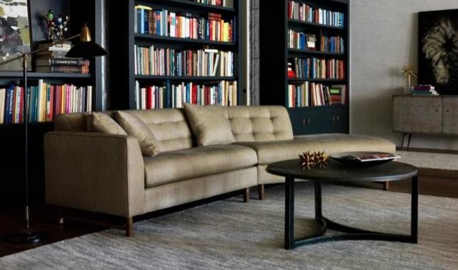 Living Room Furniture #sedlakinteriors #couch #shelves #sedlak #housetrends
