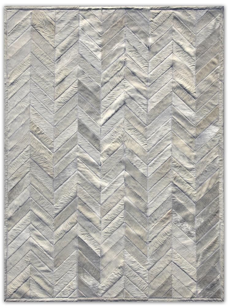 Patchwork Natural Ivory Cowhide Rug Yves
