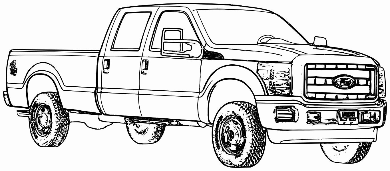 Ford Trucks Coloring Pages New Coloring Truck To Color Fire For Kids Monster And Gambar Posting Blog
