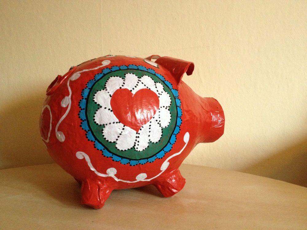Sehr grosses Sparschwein - NANA DESIGN 2 - Geldgeschenk - Geschenkidee - Unikat