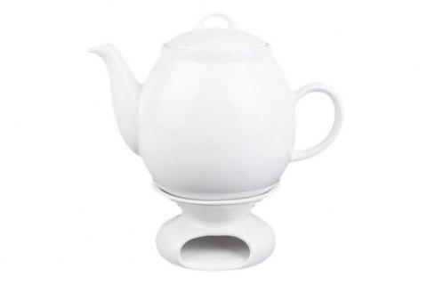 Bialy Dzbanek Z Podgrzewaczem 1 7 Litra Mieroszow Tea Pots Tableware Tea