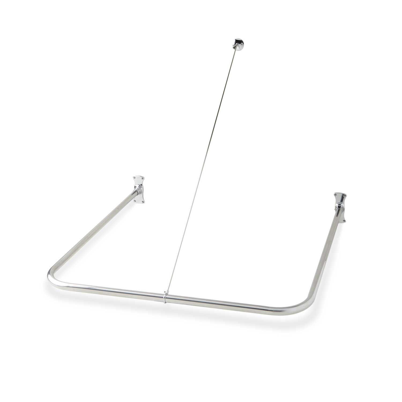 U Shaped Shower Curtain Rod Brushed Nickel Signature Hardware