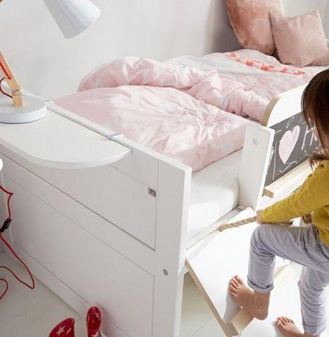 lifetime kinderbed kajuitbed met glijbaan schoolbord trap