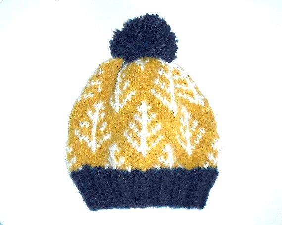 Knitted Hat - Wool Hat - Nordic - Fair Isle - Hat for Women - Hat ...