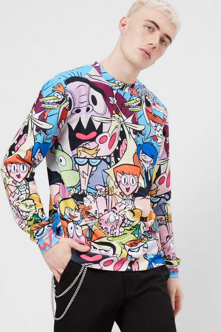 59e0ac70aa15e Cartoon Network Graphic Pullover in Pink