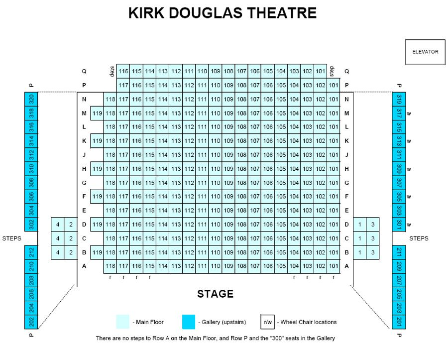 Kirk Douglas Theatre Seating Chart Seating Chart Classroom Classroom Seating Chart Template Seating Chart Template