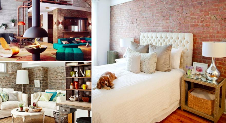 80 id es d 39 int rieurs avec briques apparentes brico d co id es pour la maison d co maison. Black Bedroom Furniture Sets. Home Design Ideas