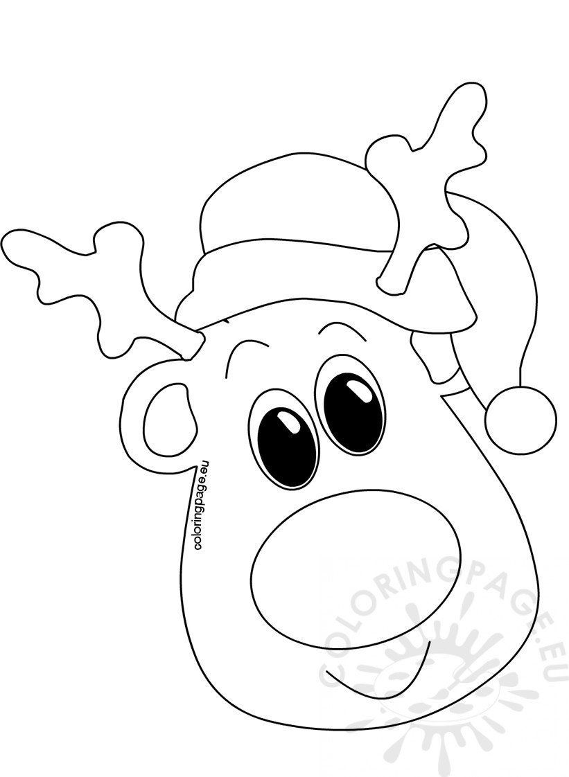 Christmas Santa Hat Coloring Page In 2020 Christmas Coloring Sheets Christmas Coloring Books Christmas Colors