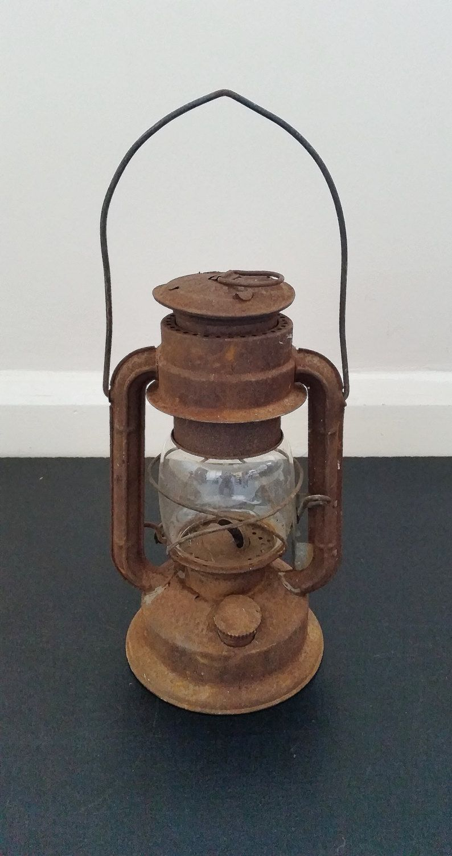 Vintage Oil Lantern Hanging Lamp Old Kerosene Light Rustic Paraffin 1950s Outdoor Garden Patio Or Decking Lighting