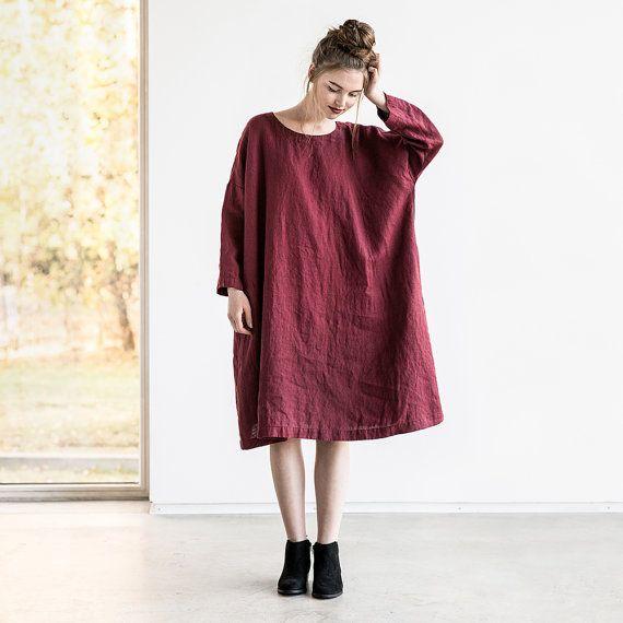 Linen tunic Oversized linen tunic Loose tunic Tunic Drop shoulder tunic Tunic dress