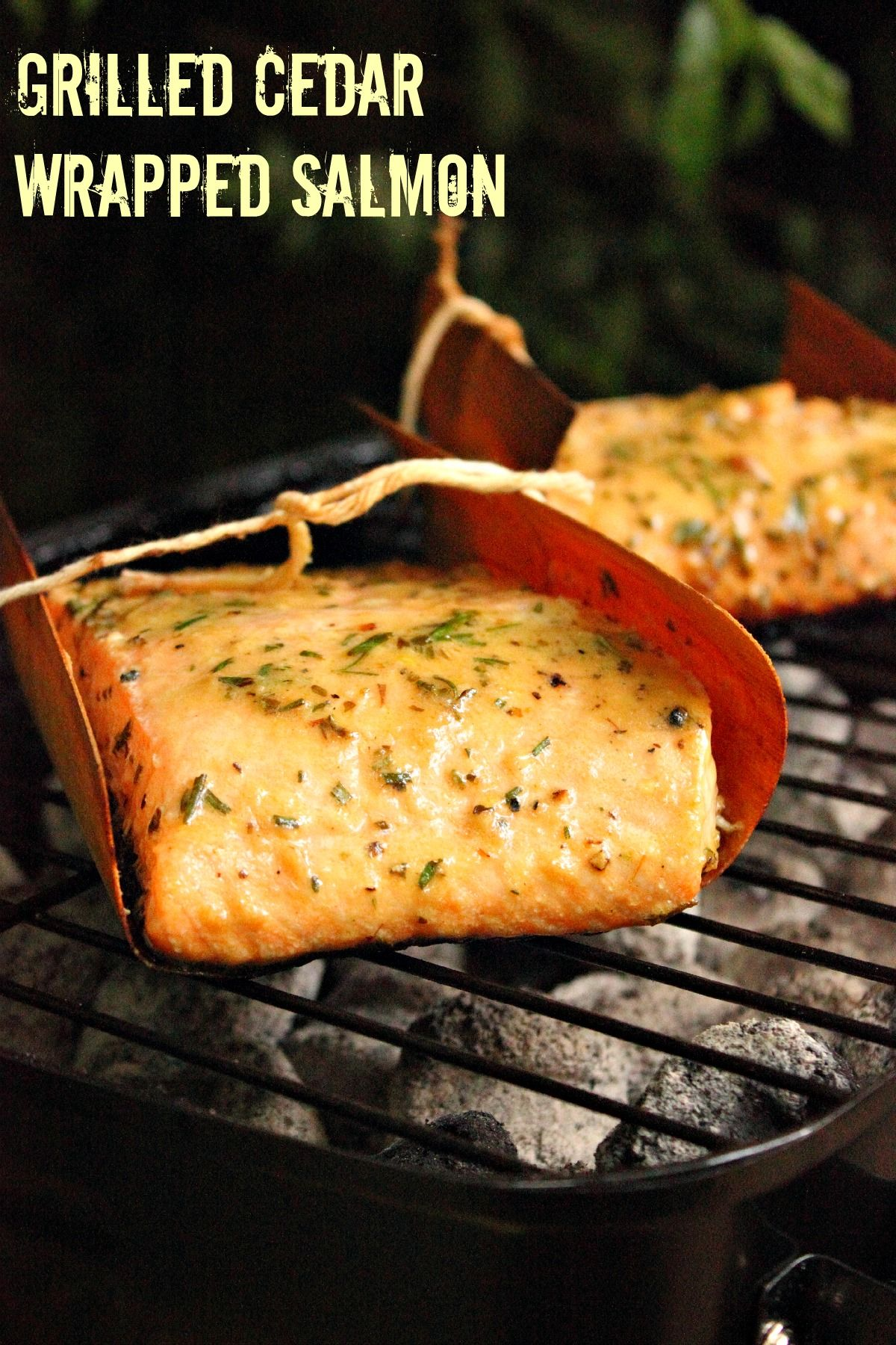Of course you can grill your salmon on a cedar plank, but you can also wrap them in cedar wraps. Grilled Cedar Wrapped Salmon is the way to go!
