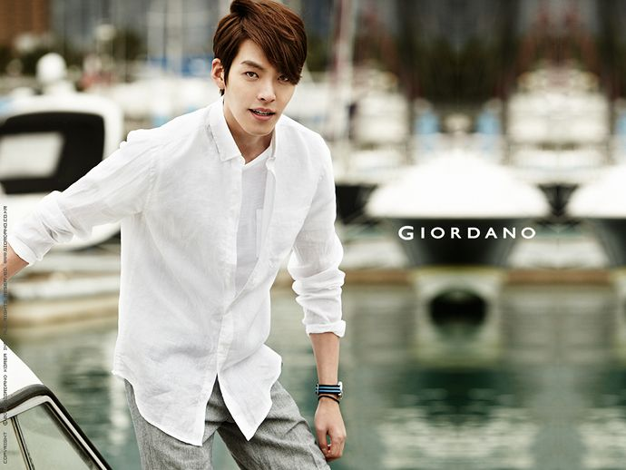 Kim Woo Bin for Giordano Summer 2014