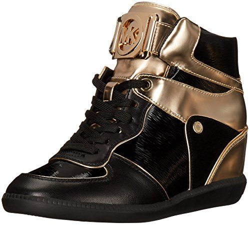 Michael Kors Womens Nikko High Top Fashion Sneaker Black 6 M US ** Want to know more, click on the image.