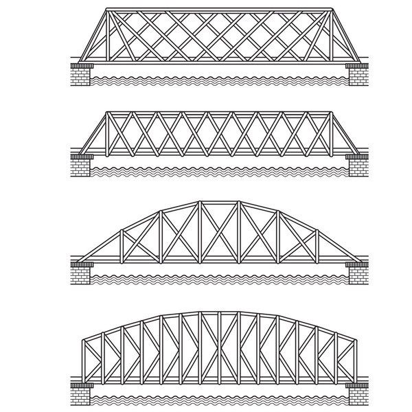 All of the triangles in these bridges make them strong