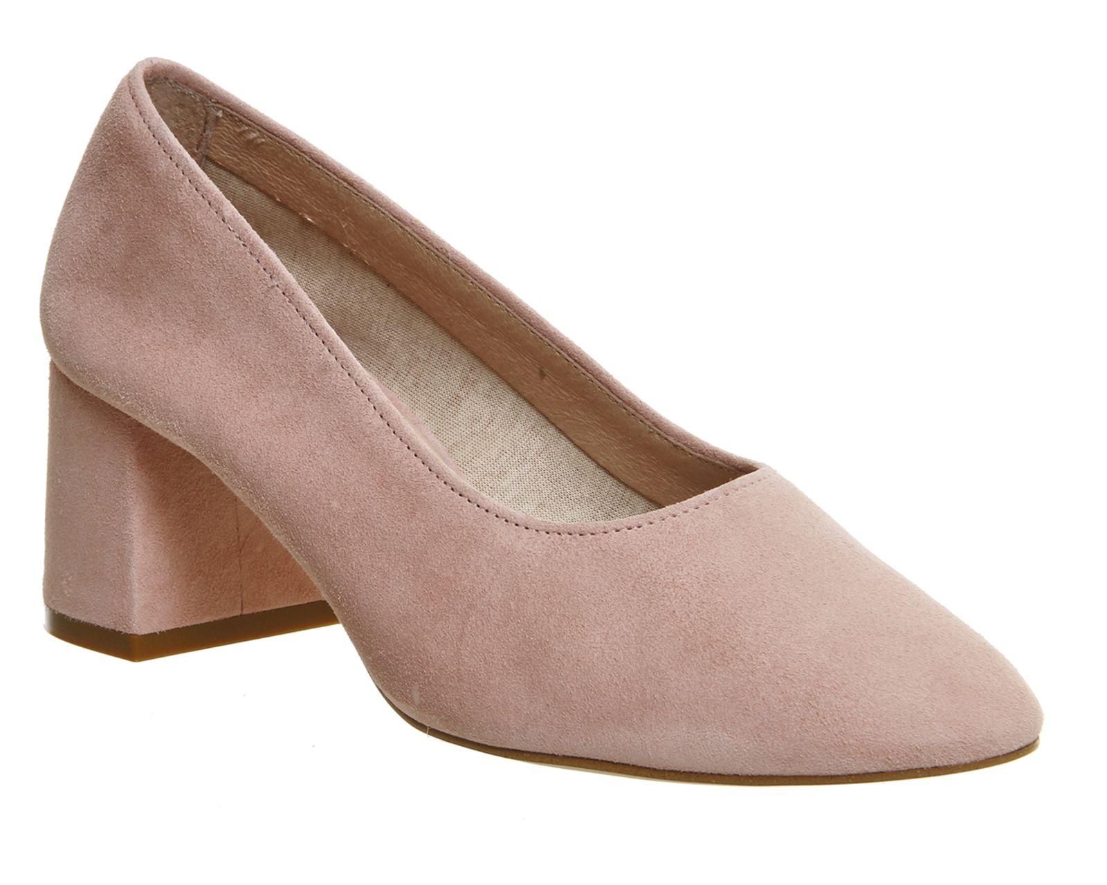Buy Pink Suede Office Mia Block Heel Softie Ballet from OFFICE.co.uk.