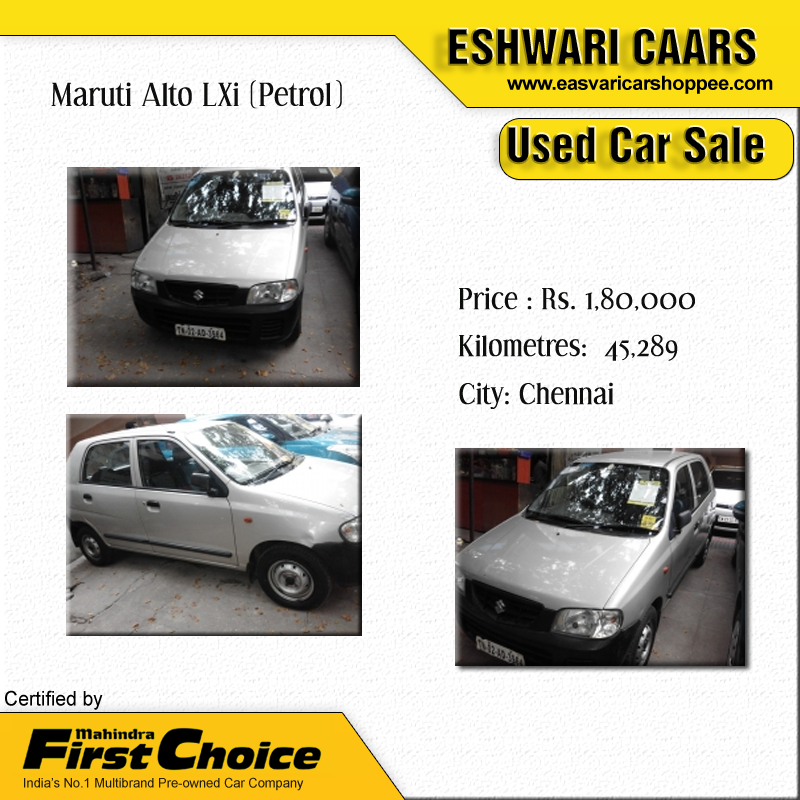 Maruti Alto LXi (Petrol) Price Rs. 1,80,000 Kilometers