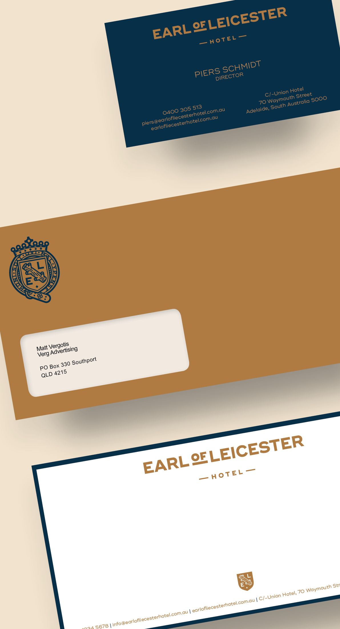 Visual identity for old adelaide pub earl of leicester branding business cards visual identity for old adelaide pub earl of leicester reheart Images