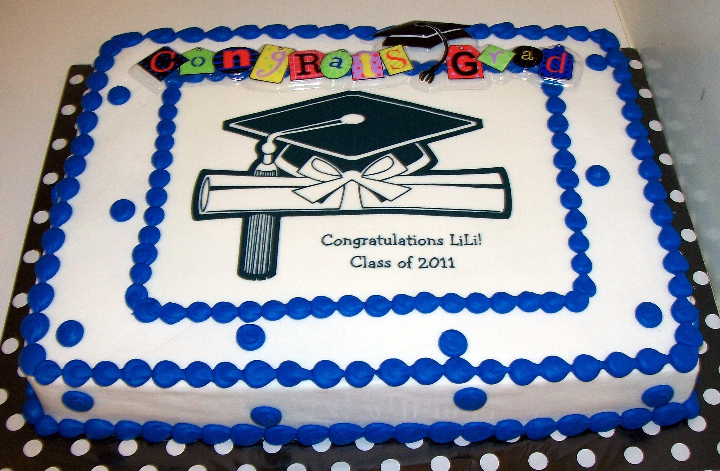 High School Graduation Sheet Cake Ideas