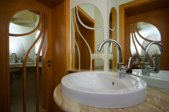 Extraordinary Polish Residence With Odd Architectural Appearance #17, bathroom closeup