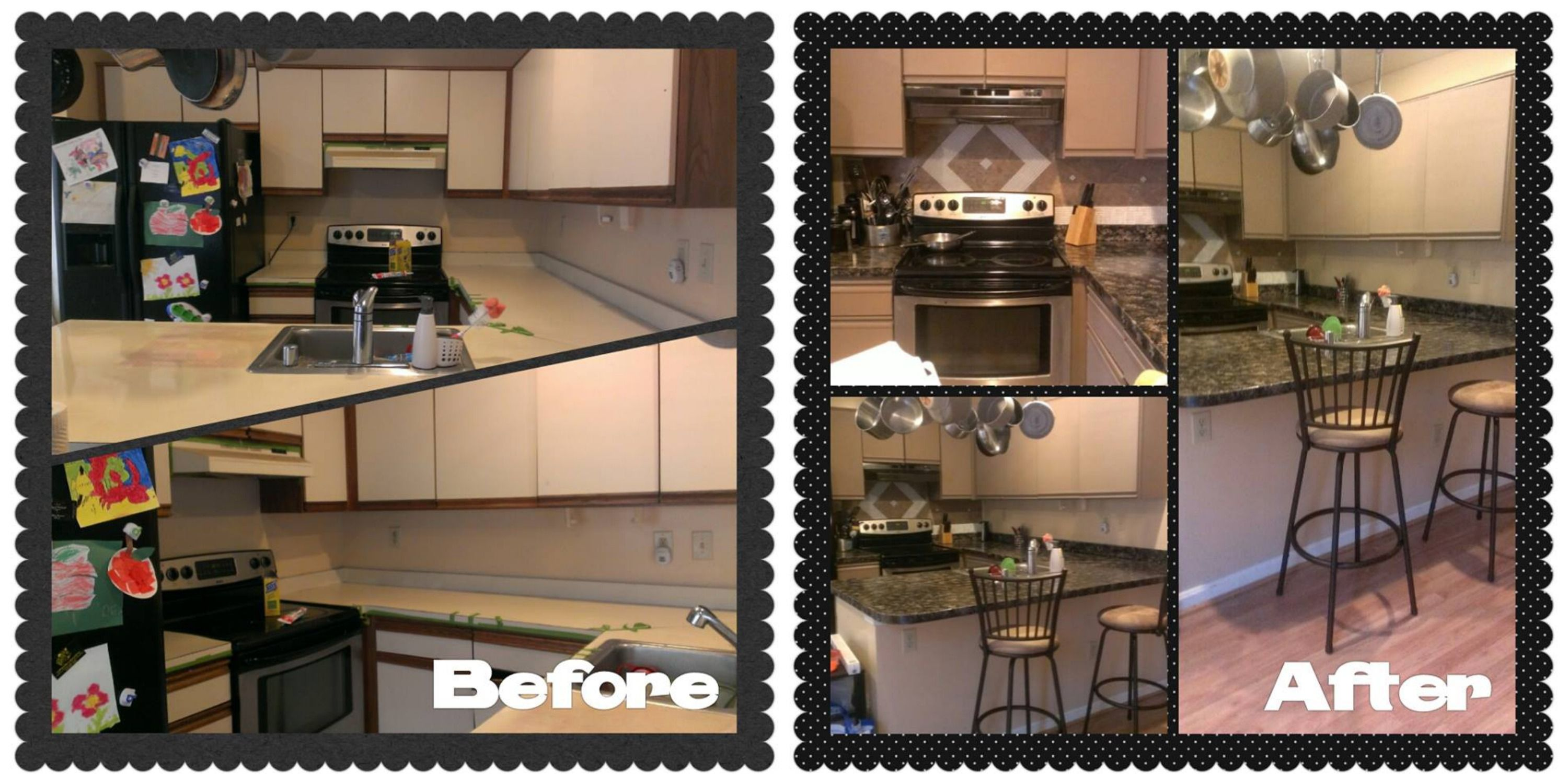 Amazing Budget Kitchen Redo Giani Granite Countertop